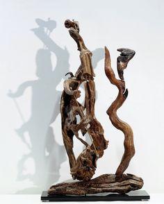 Driftwood Art Sculpture, Aretha Franklin band... Natural Wood Sculpture... by driftwoodartwork on Etsy