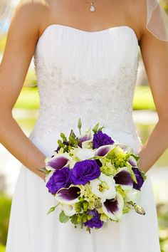 purple and green bouquet (photo by Meurer Image Photography)