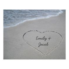 Customizable #Anniversary #Beaches #For#Couples #Hearts #Nature #Sand #Templates #Water #Waves #Wedding Personalized Heart in Sand Wrapped Canvas Print available WorldWide on http://bit.ly/2g8s4B5
