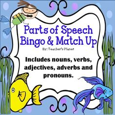 Parts of Speech Bingo, Match Up and Anchor Charts!This bundle set teaches the… Shurley English, Third Grade, Grade 3, Fourth Grade, Nouns And Verbs, Phonics Words, Parts Of Speech, Word Study, Anchor Charts