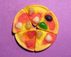 Gummi Pizza In 5 Slices