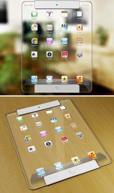 Transparent iPad Concept – these transparent concepts make me grow a long tooth… #futuristictechnologyinventions