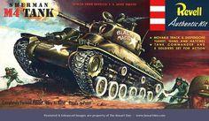 Revell Sherman Tank - With 6 Figures Vintage Models, Old Models, Plastic Model Kits, Plastic Models, Monogram Tank, Revell Monogram, Monogram Models, New Aircraft, Sherman Tank