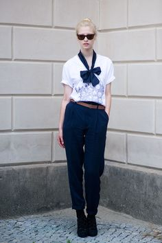 street fashion, fashion weeks, bow ties, outfit, dress up, street styles, bows, neck ties, trouser