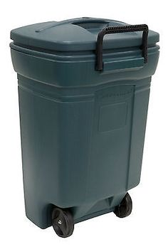 Trash Cans And Wastebaskets 20608: Rubbermaid Rubbermaid Wheeled 45 Gallon Trash  Can  U003e BUY