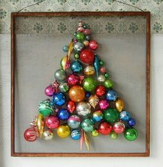 Christmas tree - What a great idea for small spaces!  I live in an RV so I think I will do this for our tree this year!  Fantastic!