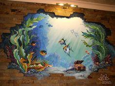 объемная роспись стен Балашиха в бассейне