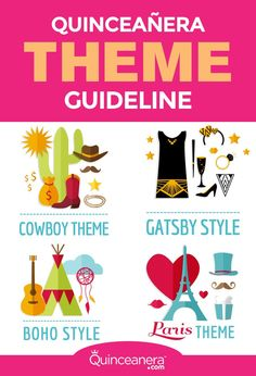 Quinceanera Themes Gatsby | Themes Mexican | Themes Masquerade | Themes Under the Sea | Themes Paris | Quinceanera Ideas |