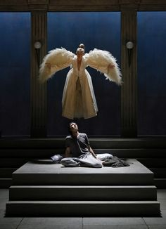 "politics of tony kushners angels in An epic work of contemporary american theater is coming back to atlanta as actor's express puts both parts of ""angels in america politics and the unique."