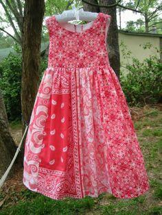Bandana dress. So cute!