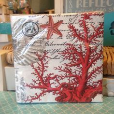 4th of July Party! This awesome under the sea inspired cocktail napkin set is a great way to bring a little beach to your table! Come on in to Coastal Living for the perfect additions to your table!