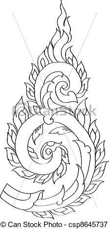 Thai pattern graphic - csp8645737