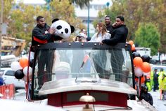 San Francisco Giant Pablo Sandoval basks in the adoration of the World Series victory parade Thursday, Oct. 31, 2014, in San Francisco, Calif. (Karl Mondon/Bay Area News Group)
