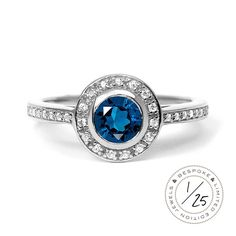Efflorescence Ethical Sapphire Platinum Gemstone Engagement Ring. Fairtrade & conflict-free. An Arabel Lebrusan original £3,025