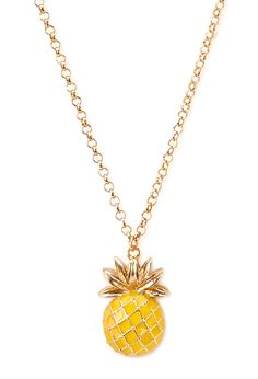 Pineapple Pendant Necklace | FOREVER21