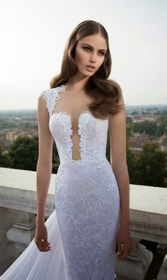 Sexy Berta Wedding Dresses 2014 Part I - MODwedding  ***HER DRESS SPECIALLY HER HAIRRRR. FLOWWYYY FLOWYY HAIR.