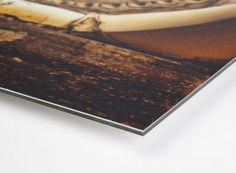 DIBOND® was originally developed in 1992 by 3A Composites as one of the first Aluminium Composite sheets for the display and signage markets. The panel combines two 0.3 mm aluminium surface layers with a polyethylene core and comes with a protective film on both sides.   #fine art #dibond
