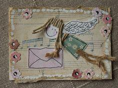 ATC_anioł z dobrą wiadomością | by kasiorka_na_flickrze