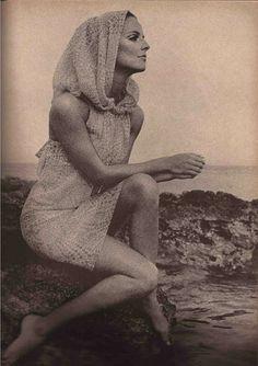Mosaic Printed-Chiffon by Harold Levine, 1966
