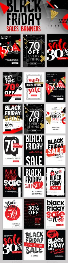 Black Friday Sales Banners Template PSD, Transparent PNG, Vector EPS, AI Illustrator