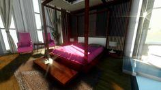 3D MODELLEME yatak odası