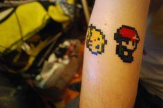 pkmn 8 bit tattoo