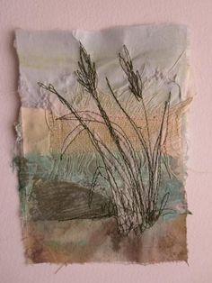 Broadland 4 (sold) casholmestextiles  #broadland #casholmestextiles Thread Art, Thread Painting, Fabric Painting, Fabric Art, Paint Fabric, Painting Art, Art Fibres Textiles, Textile Fiber Art, Textile Artists