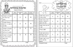 44 Best Writing Rubric for Kindergarten images
