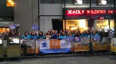 Alpha Xi Deltas at The Today Show on April 2 supporting Autism Speaks for World Autism Awareness Day