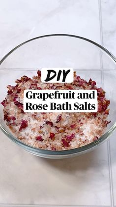 Rose Bath, Grapefruit Essential Oil, Dried Rose Petals, Diy Skin Care, Diy Arts And Crafts, Bath Salts, Me Time, Diy Beauty, Body Care
