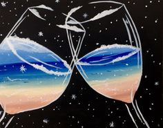 Let's Drink til Summer - Paint Nite Painting