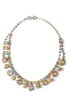 A Riot (Of Colour) Round Stone Necklace by Tom Binns for Preorder on Moda Operandi