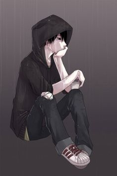Anime Guy with Hoodie | Download Wallpapers, Download 640x960 emo hoodie anime anime boys ...