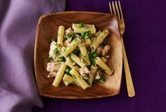 Salmon Pasta Salad with Dill.