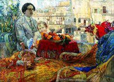 Исаак Бродский автопортрет с дочерью 1911