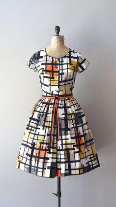 vintage 1950s dress / Guggenheim dress / by DearGolden