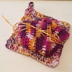 Autumn Harvest Trivet and Washcloth Set 100% Cotton by jabcrochet