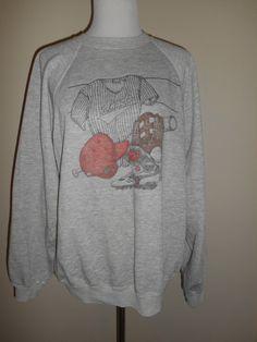 Vintage 80s 90s Angels  baseball Sweatshirt  by ATELIERVINTAGESHOP