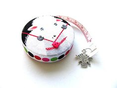 Measuring Tape Knitting Sheep and Yarn Retractable Tape
