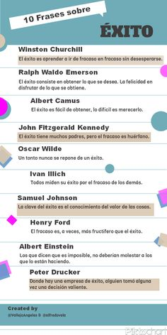 10 frases célebres sobre el éxito #infografia