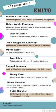 10 frases célebres sobre el éxito #infografia #infographic #citas #quotes