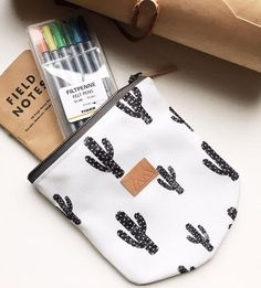 Cactus Eco Canvas Zipper Pouch by From Marfa With Love on Scoutmob