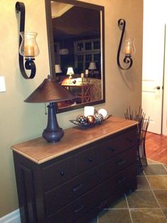 Old Dresser & Mirror refinished for foyer  - Stonehaven Simple Pleasures
