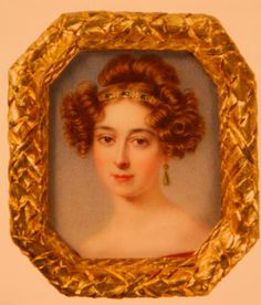 Queen Victoria's sister Feodora is small and exquisitely painted.