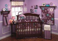 nursery ideas for girls purple