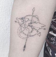 Beautiful travel tattoo