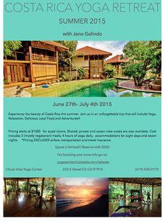 Costa Rica Summer Yoga Retreat
