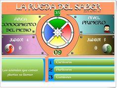 """""""La rueda del saber. Nivel I"""" (Juego multidisciplinar de 4º de Primaria)"""