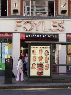 Foyles - Best Book Shop on Earth.  Well, they like to think so ! But it's certainly in the top 5. I worked here in the 1960s.