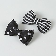 Claire's Stripe and Polka Dot Bow Hair Clips